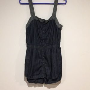 French Connection Jean Romper Sz 6
